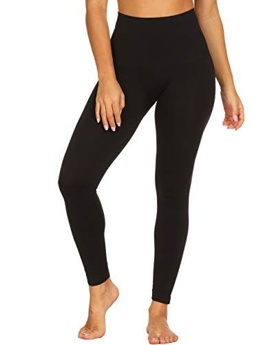iNoDoZ Womens High Waist Fashion Workout Leggings Fitness Sports Gym Running Yoga Athletic Pants Tummy Control