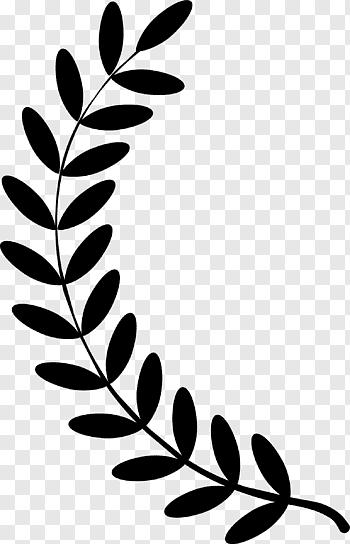 Black Leaf Illustation Olive Branch Laurel Wreath Laurel Wreath S Free Png Japan Flower Leaf Illustration Crown Illustration