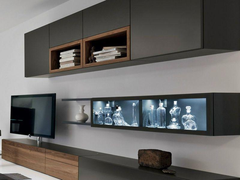 Moderne Wohnwand Ideen Regale Und Schränke