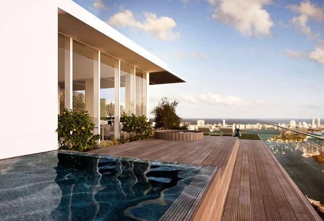 Piero Lissoni project for   David Guetta's Miami Penthouse at The GranParaiso Tower