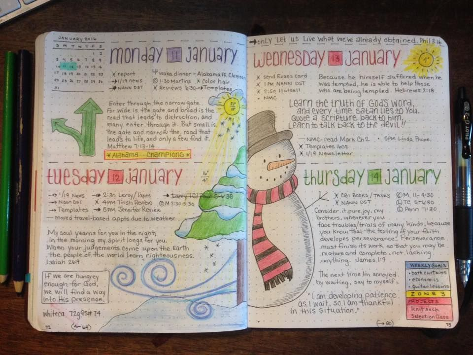 bullet Journal junkies * FB daily layout - love the ...