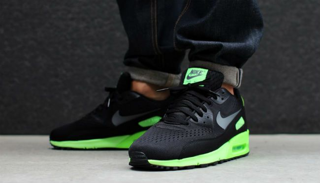 Nike Air Max 90 PRM Comfort EM BlackFlash Lime | Nike air