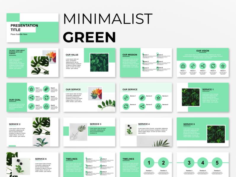 Minimalist Green Powerpoint Presentation Template Powerpoint Presentation Design Presentation Templates Powerpoint Presentation Templates