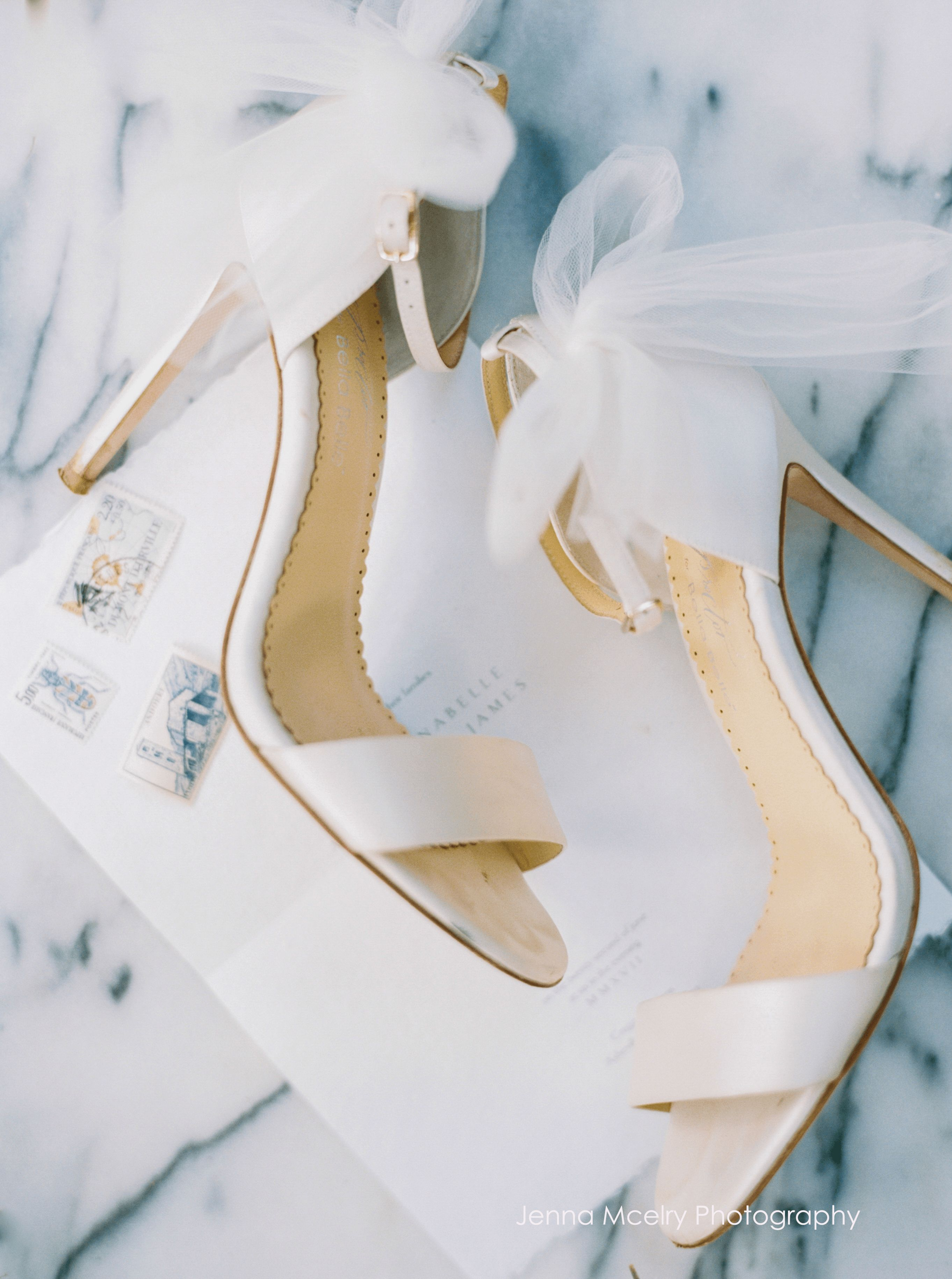 Ivory Wedding Shoes With Bow Tulle In 2021 Wedding Heels Wedding Shoe Bridal Shoes