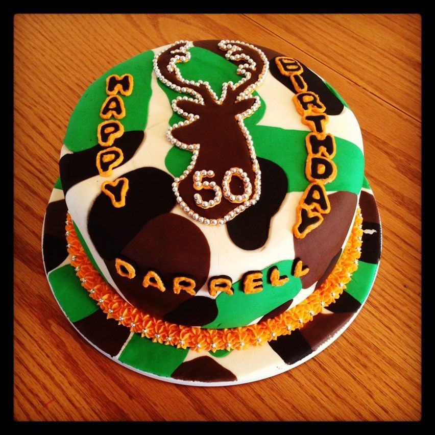 Camouflage Birthday Camouflage Themed 50th Birthday Cake All