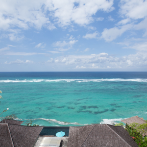 Our villa in Nusa Dua, Bali is right on the oceanfront and enjoys clear ocean views. We're available for rental year-round to guests looking for an awesome experience. We have a private beach, full-stocked kitchen and cleaning services.