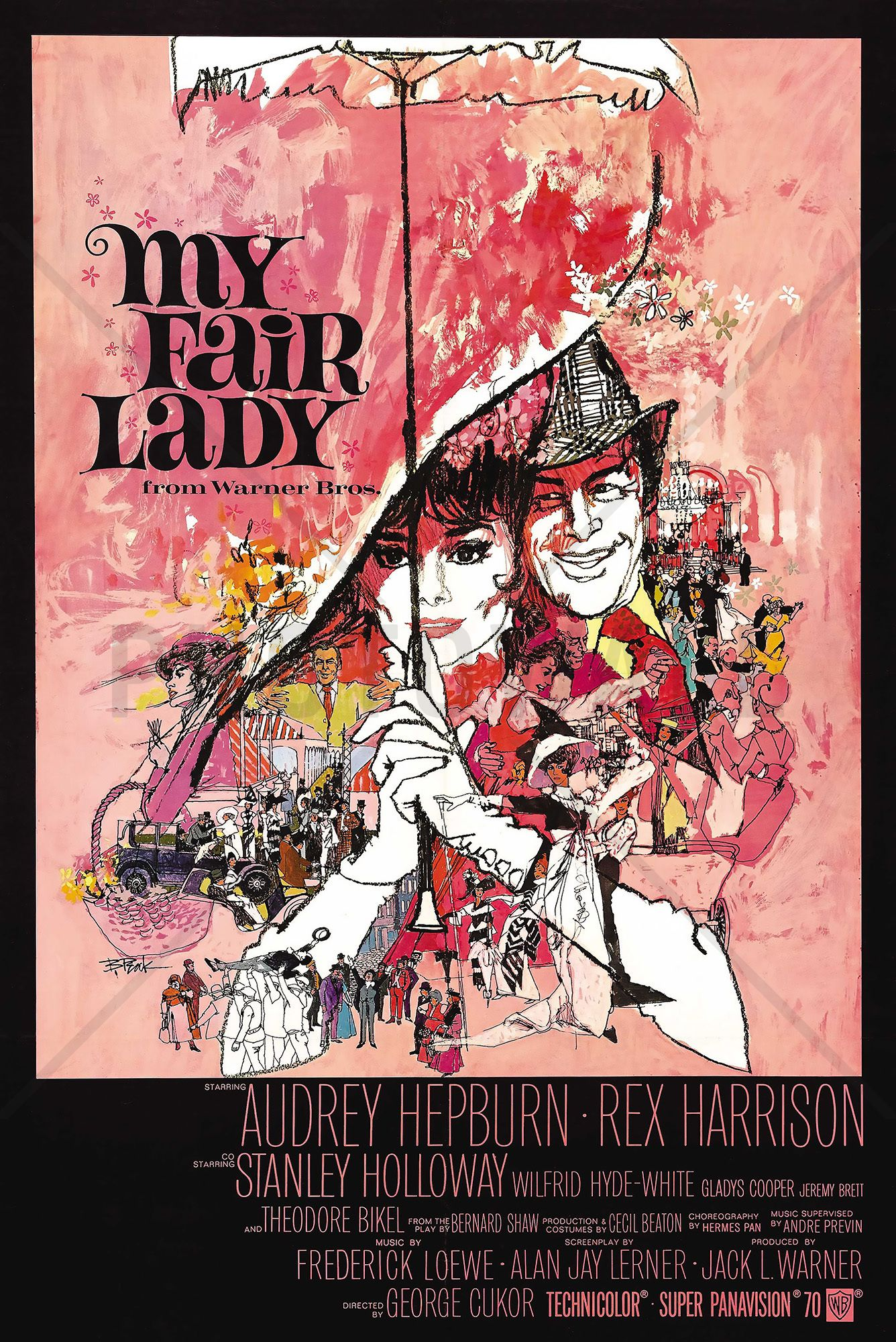 Movie Poster My Fair Lady - Fotobehang