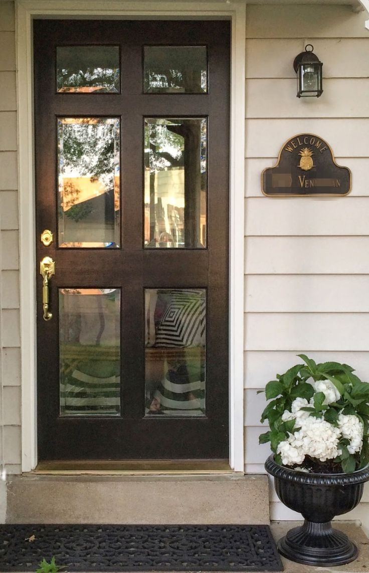 glass front doors - don't be afraid (little black door ...