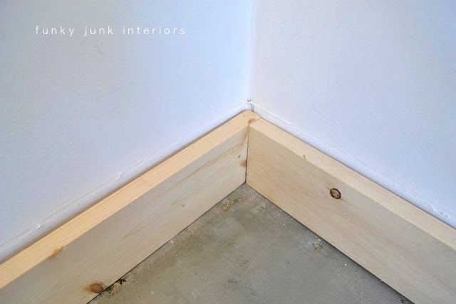 Cheater baseboards and a special win! | Funky Junk InteriorsFunky Junk Interiors