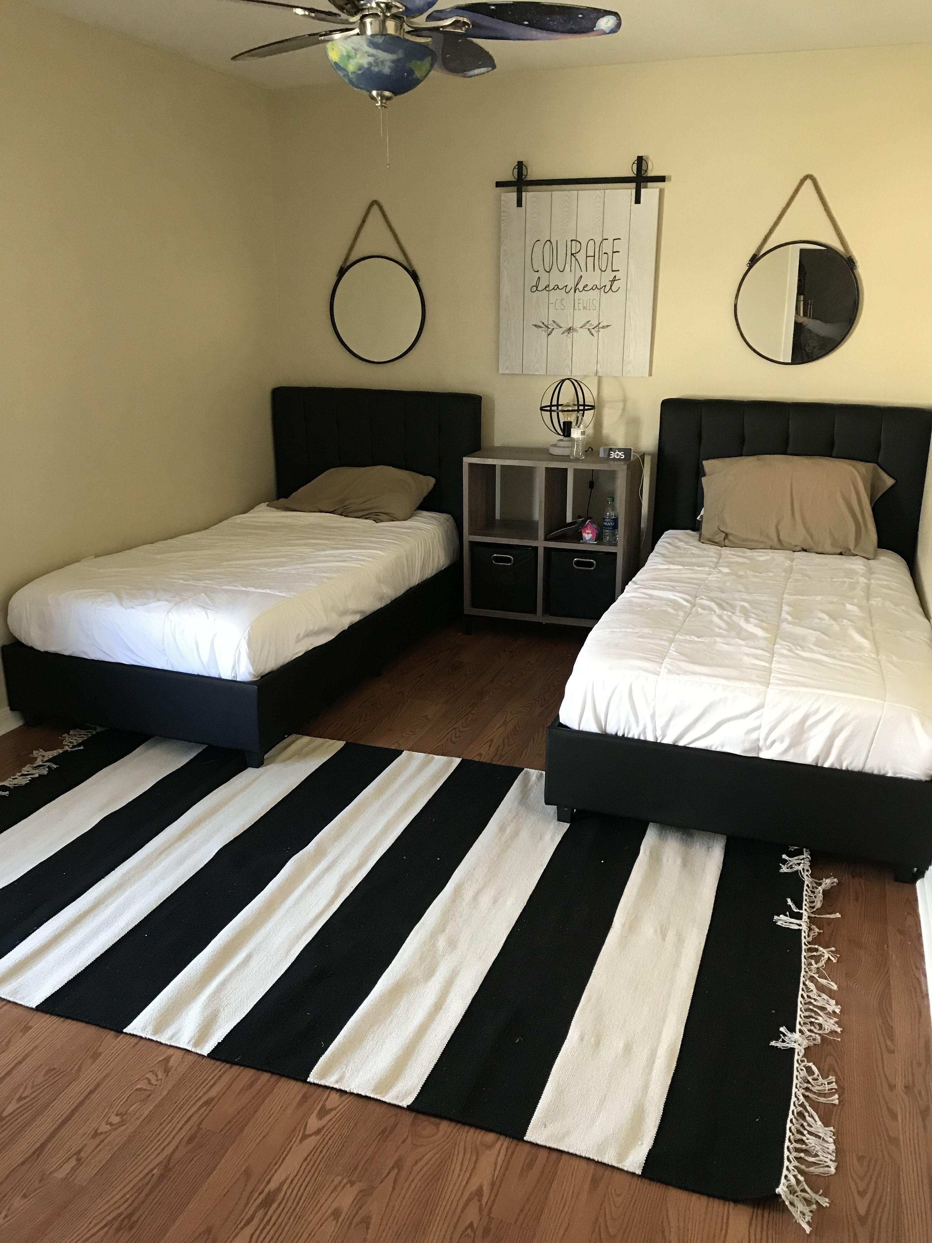 Diy Boys Room Twin Beds Room Boys Room Diy