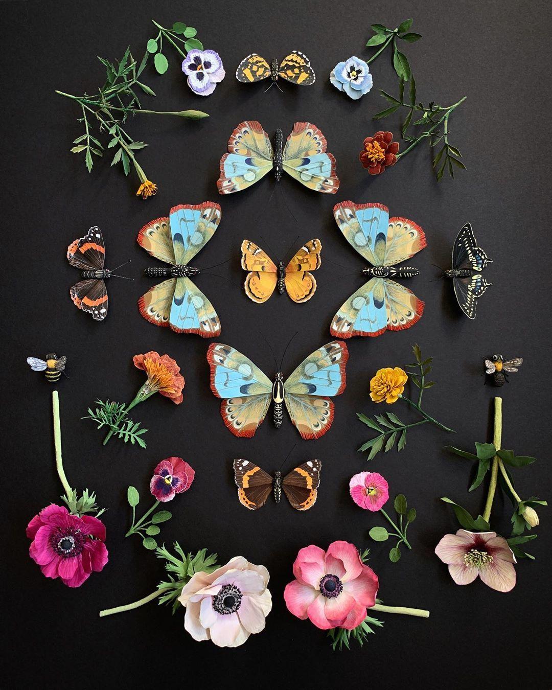 "Ann Wood Woodlucker/paper art on Instagram ""Paper nature"