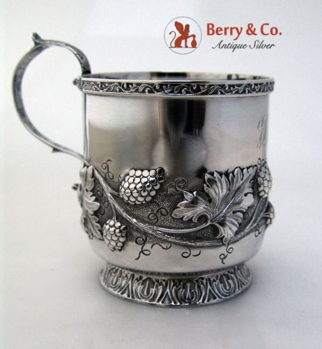 Raspberry-Repousse-Cup-R-W-Wilson-Coin-Silver-1835