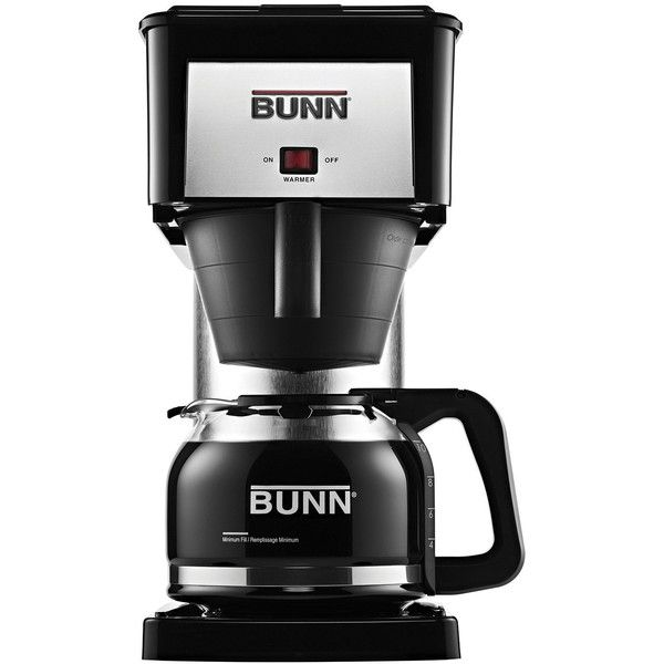 Bunn 10-Cup Coffee Maker ($120) ❤ liked on Polyvore featuring home, kitchen & dining, small appliances, bunn coffee maker, glass coffee carafe, bunn coffee machine, bunn coffeemaker and bunn coffee brewer