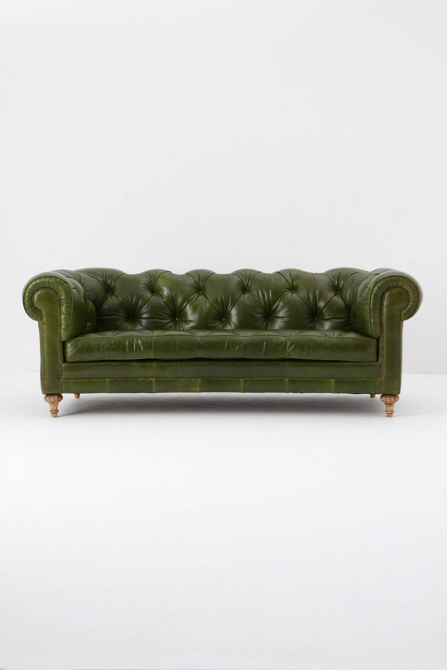 Atelier Chesterfield Bottle Green Green Leather Sofa Leather Sofa Green Sofa