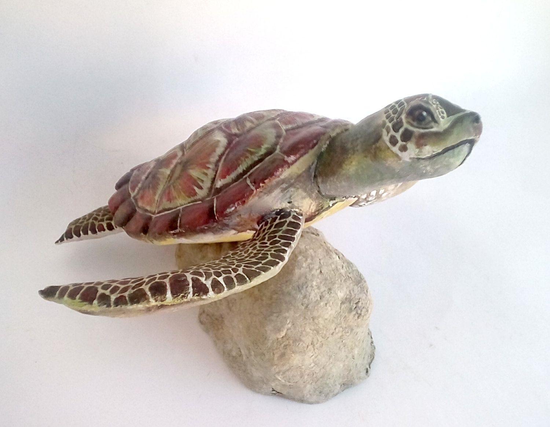 Colourful Caribbean Paper Mache Money Box Piggy Bank Turtle ... | 1164x1500