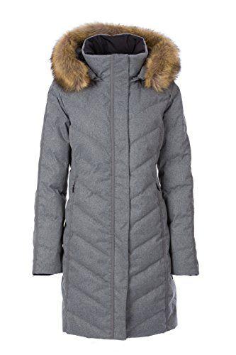 Fera Womens Selene Coat with Faux Fur 8 001 Black ** More