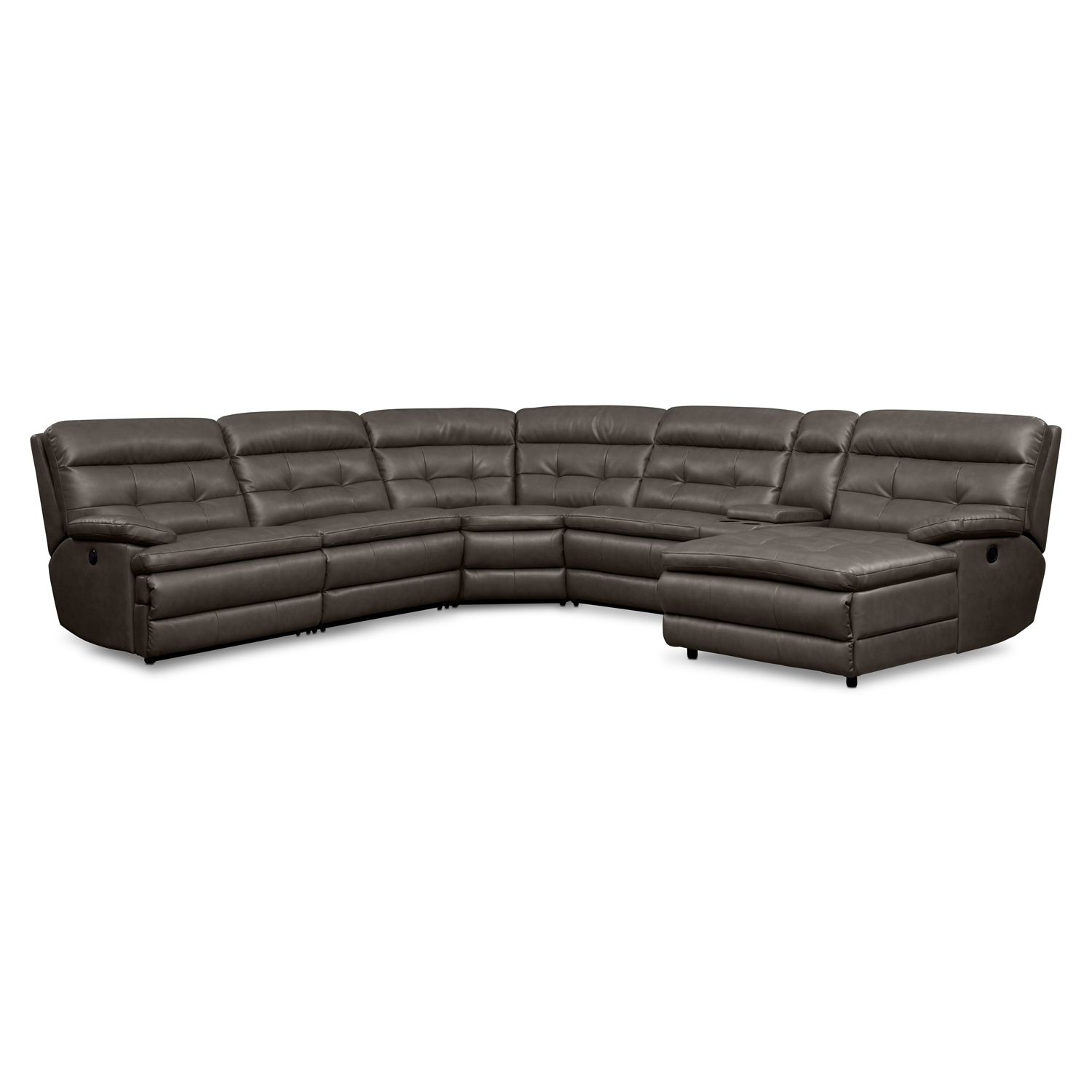 Brilliant Commander Leather 6 Pc Power Reclining Sectional Value Dailytribune Chair Design For Home Dailytribuneorg