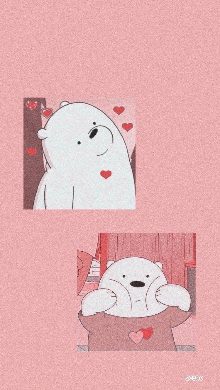 Aesthetic wallpaper cartoon bear
