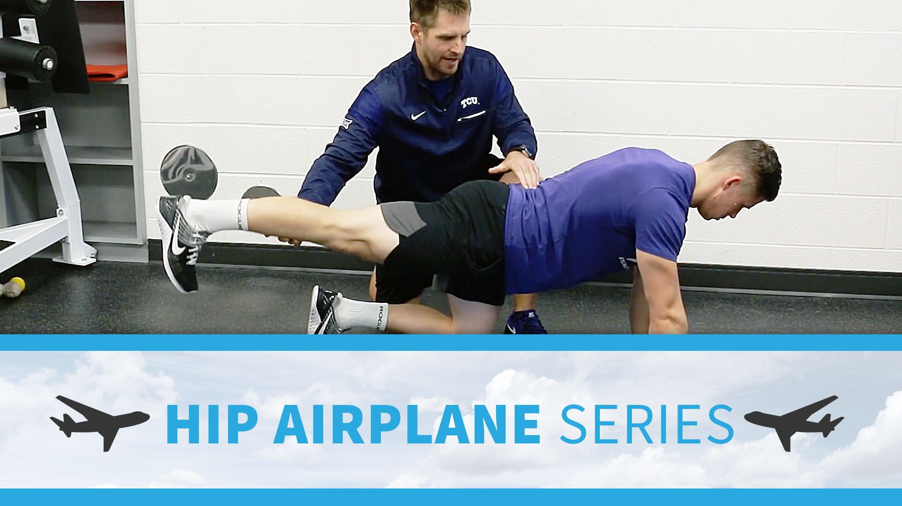 Hip Airplane Series For Pelvic Control Glute Activation And Rotational Hip Power The Art Of Coaching Volleyball Glute Activation Glutes Coaching Volleyball