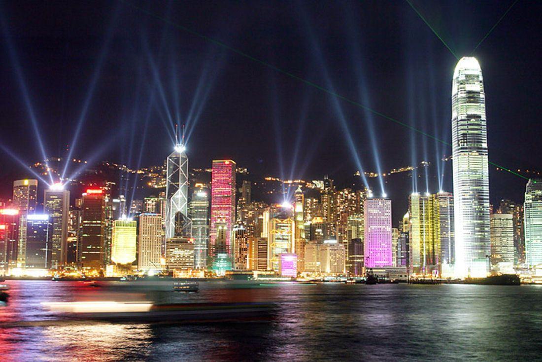 City light building night