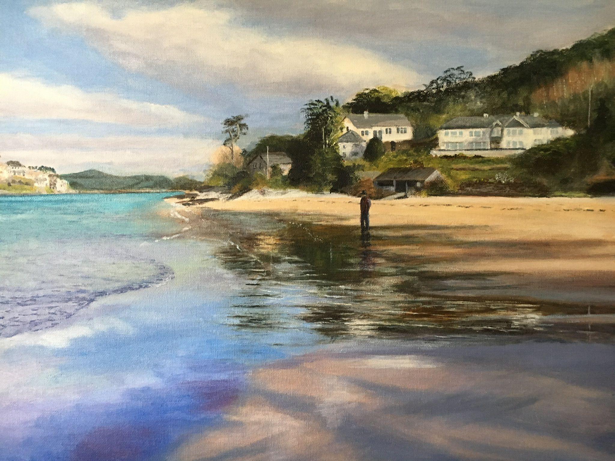 Mill Bay East Potlemouth Devon Landscape Paintings Seascape Shipman