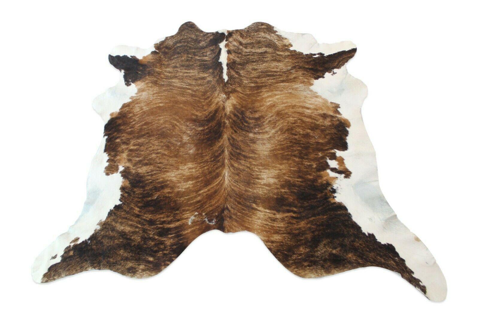 Cowhide Rug Grey Black Large Cow Skin Area Rug 6x7 Ft Pure Cow Leather Fur Decor Cow Hide Rug Brindle Cowhide Leather Rug