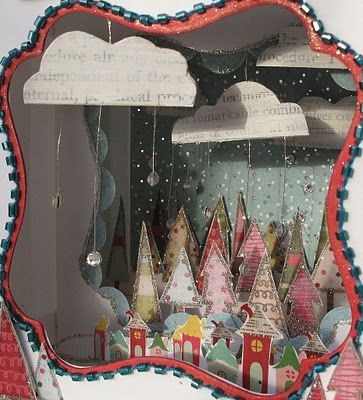 Christmas Shoebox Diorama.So Cute Christmas Scene Diorama Shoebox Photographs