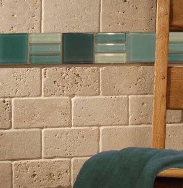 Venecitas guardas de vidrio ba os glass fused glass y for Decoracion de banos con guardas verticales