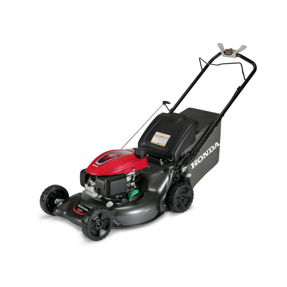 Honda 21 In 3 In 1 Variable Speed Gas Walk Behind Self Propelled Lawn Mower With Auto Choke Hrn216vka The Home Depot Lawn Mower Self Propelled Mower Walk Behind Mower