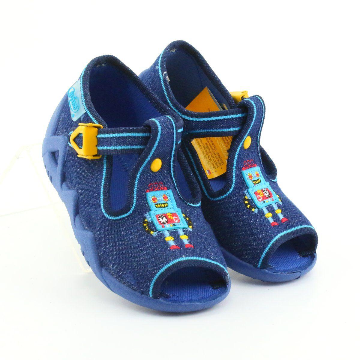 Kapcie Dzieciece Dla Dzieci Befado Niebieskie Befado Obuwie Dzieciece 217p103 Sandalet