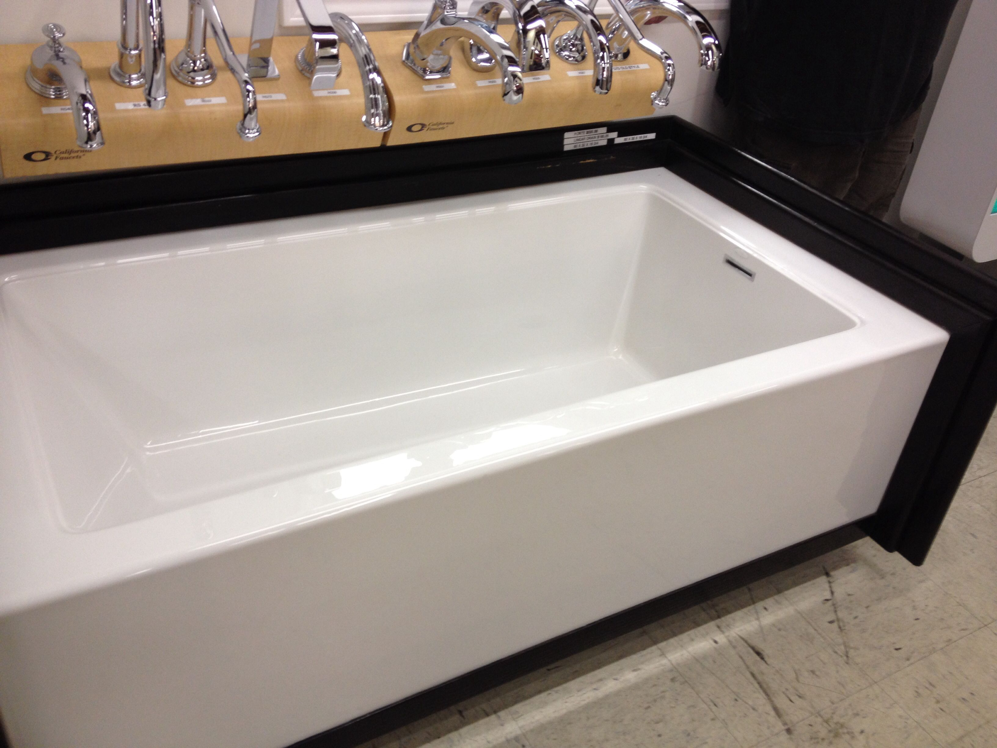 60x30x16 75 Forte Tub With Linear Drain From Reback S In