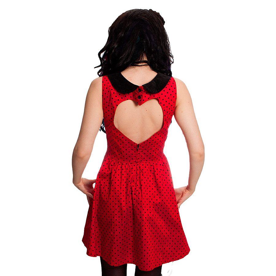 Red rose skull backpack black kate dress