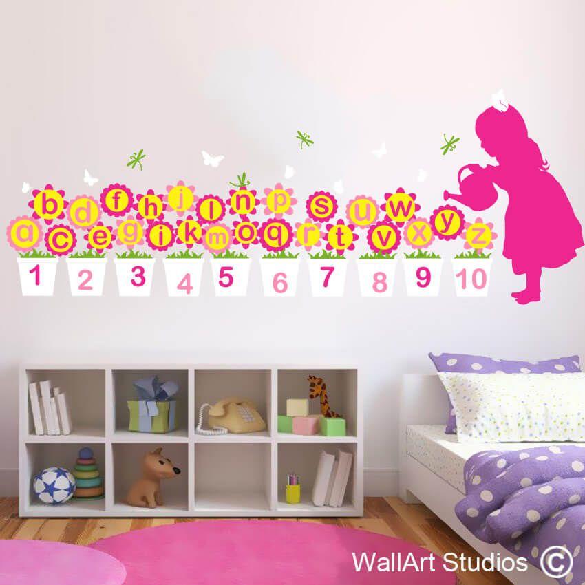 Alphabet Mary Quite Contrary   Educational Decal   Wall Art Studios ...