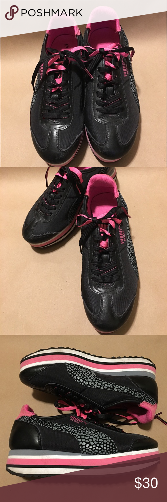 1c4a9096b84 Pre-owned Slim stacked Eco Ortholite Women s US 7 Clean uppers Tread on  soles look good and used sparingly Images are of actual shoes you ll  receive. Puma ...