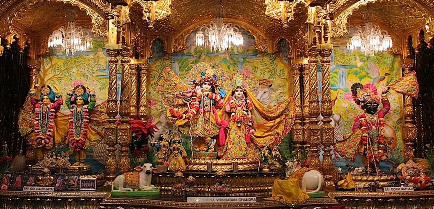 ***New Vrindaban Temple*** New Vrindaban temple is located in west virginia, US. The New Vrindaban Holy Dham is set in the beautiful and peaceful Appalachian Mountains. Sri sri Radha Vrindaban Chandra Mandir, is the main attraction of New Vrindaban shrine.  #NewVrindaban #VrindabanTemple #LordKrishna #Temple