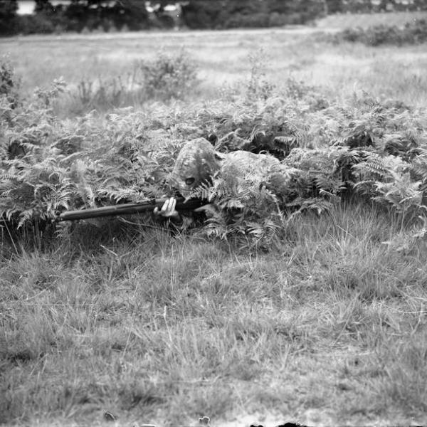Sniper Lovat Scouts Bisley Surrey 9 JULY 1940 C IWM H 2144