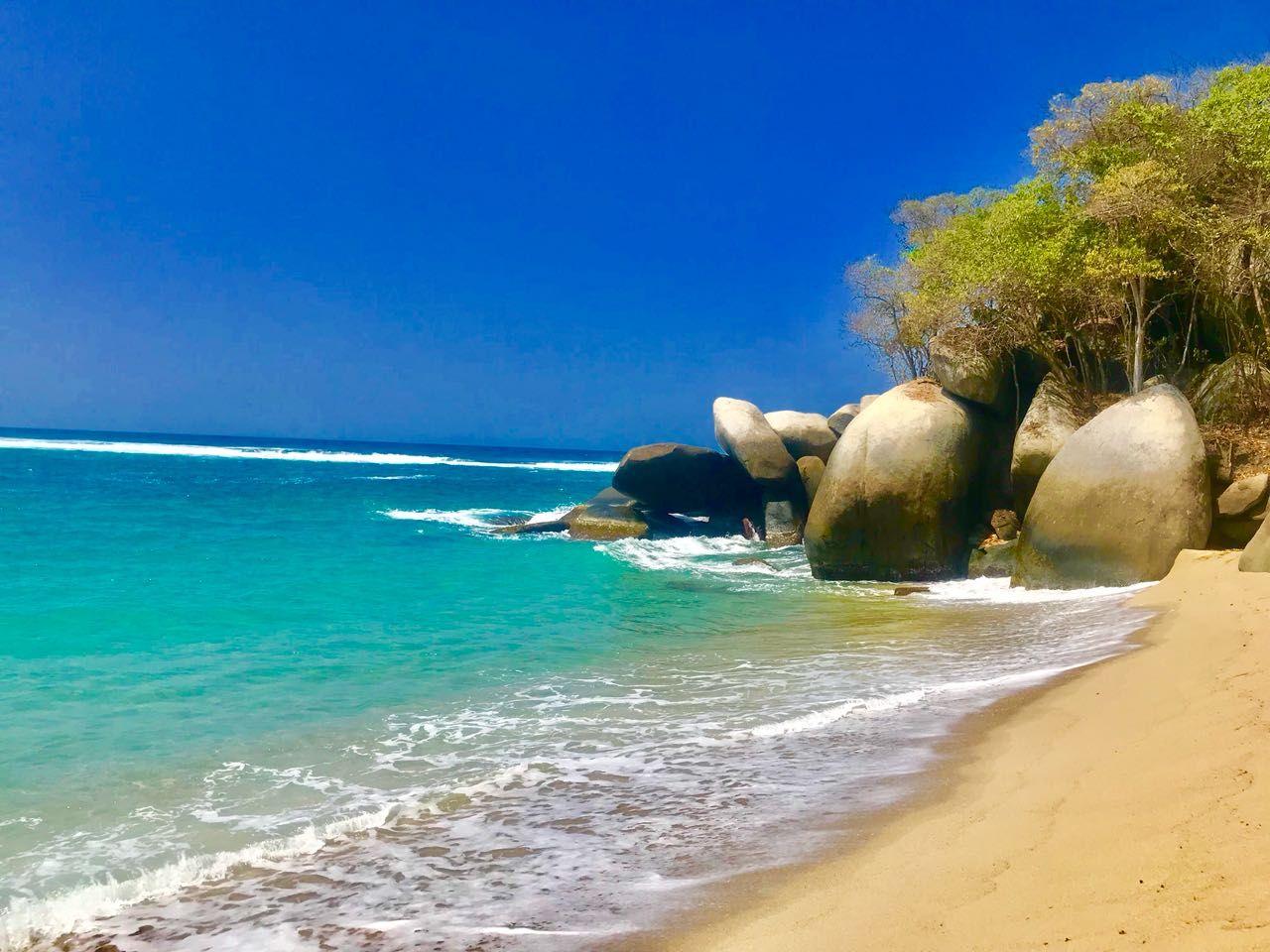 Playa nudistas parque tayrona