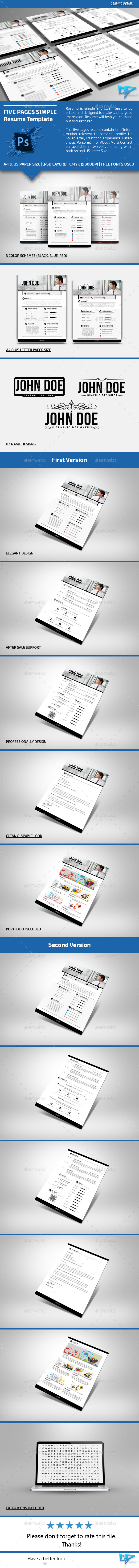 This Clean Resume  Cv Files Are Designed In Adobe Photoshop