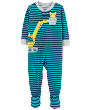 Carter S Baby Boys Construction Footed Pajamas Stripe 12 Months Baby Pajamas Foot Pyjamas Baby Boy Outfits