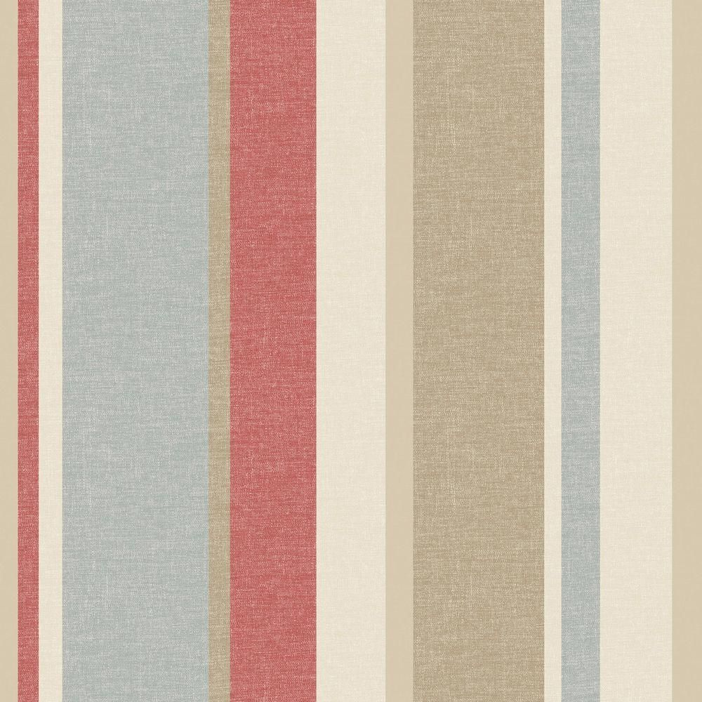 Pin By Jane Smith On French Country Fabric Linen Stripe Wallpaper Striped Wallpaper Striped Wallpaper Red