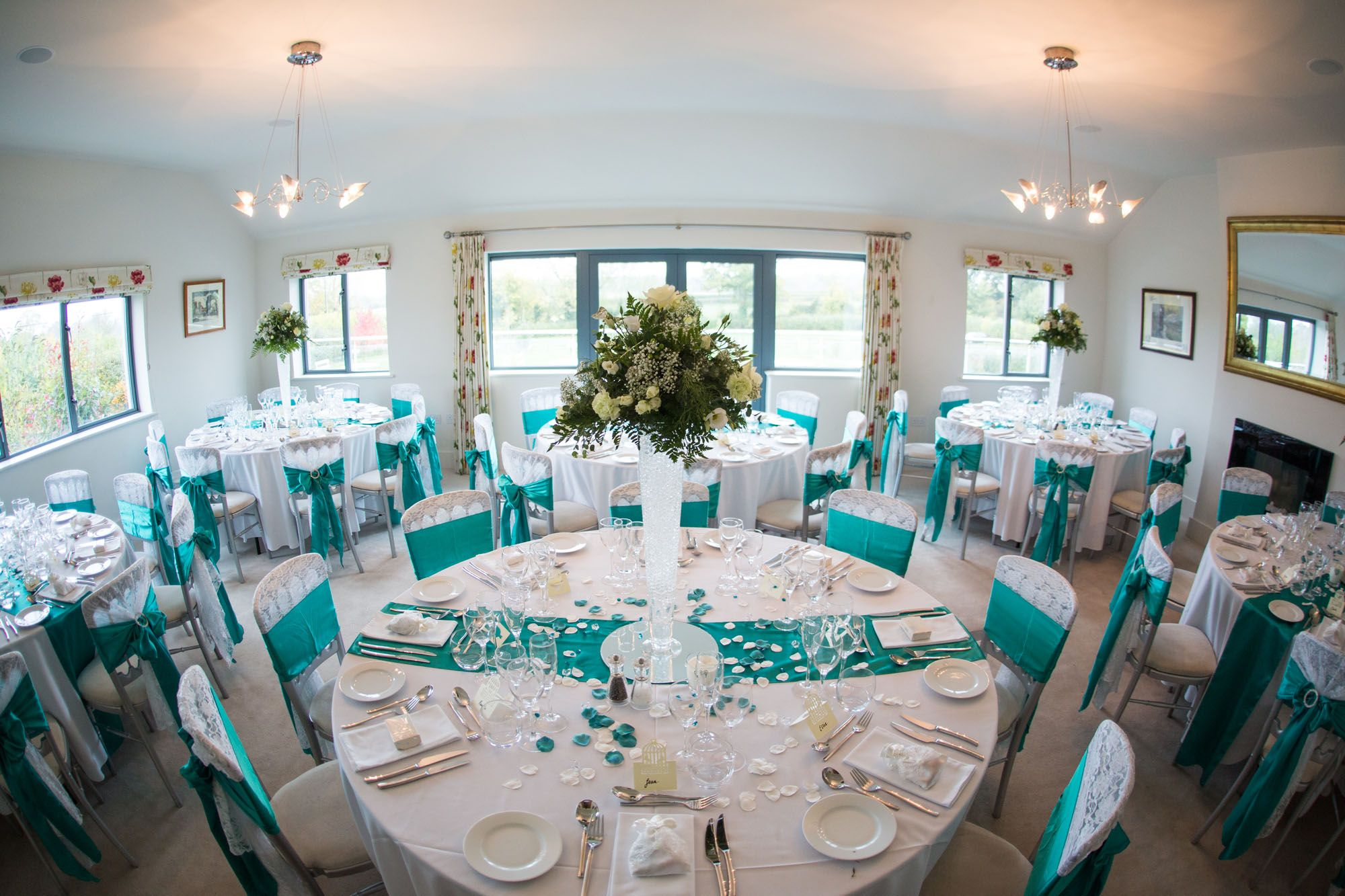 Our Drawing Room Can Hold A Maximum Of 60 Guests For A Sit Down Meal Teal Colour Scheme Runni House On A Hill Wedding Venues Worcestershire Contemporary House
