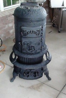 Antique Phillips Amp Clark Oak Andes Parlor Stove Coal Wood