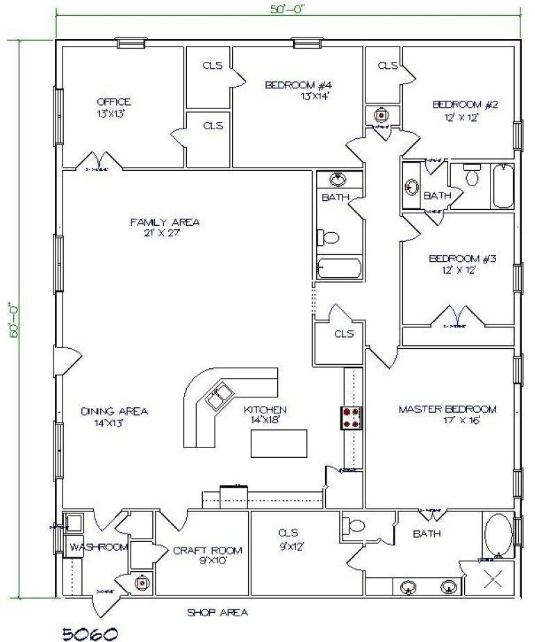 Small Barndominium Floor Plans 2 Story with Loft [30x40