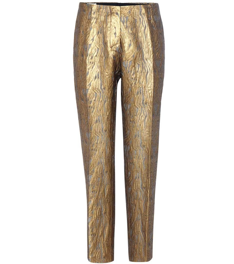 9203c2aba4 DRIES VAN NOTEN Metallic Jacquard Trousers.  driesvannoten  cloth  trousers