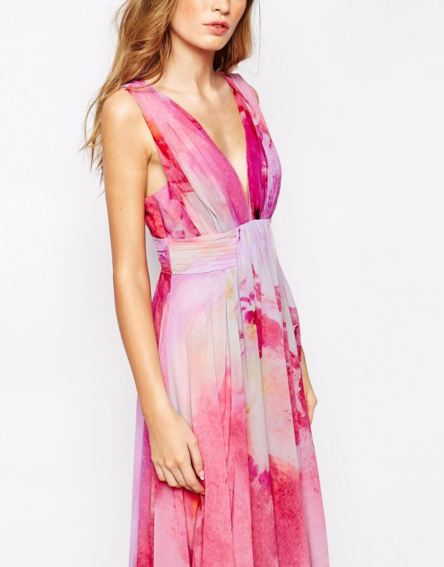 Image 3 of Fame and Partners Valencia Pleated Maxi Dress With Wrap ...