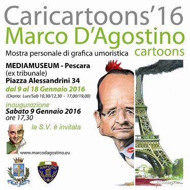 Caricartoons' 16 mostra personale di grafica umoristica di Marco D'Agostino