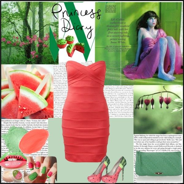 """""""POP of color: watermelon"""" by korvapuusti ❤ liked on Polyvore"""