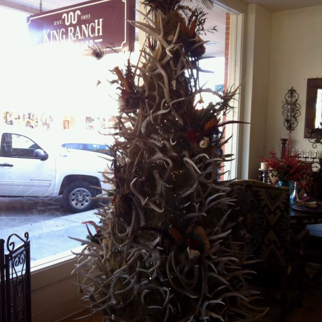 Christmas Tree Made Of Deer Antlers: Christmas Tree Made Of Deer Antlers.definately Not In My