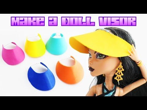 be1dc25090c How to Make a Doll Visor - Easy Doll Crafts - YouTube