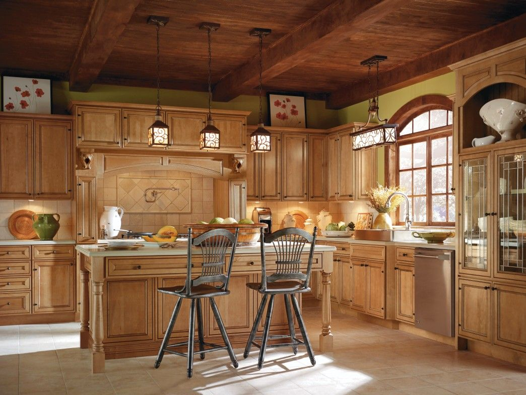 Blakely Maple Cranberry By Thomasville Cabinetry Custom Kitchen Cabinets Semi Custom Kitchen Cabinets Kitchen Cabinets Home Depot
